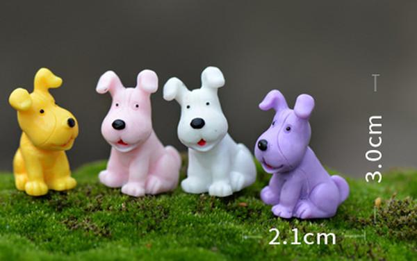 8pcs Kawaii Dogs Fairy Garden Miniatures Resin Craft Terrarium Figurines Tonsai Tool Gnomes Dollhouse Toy Zakka Home Accessories