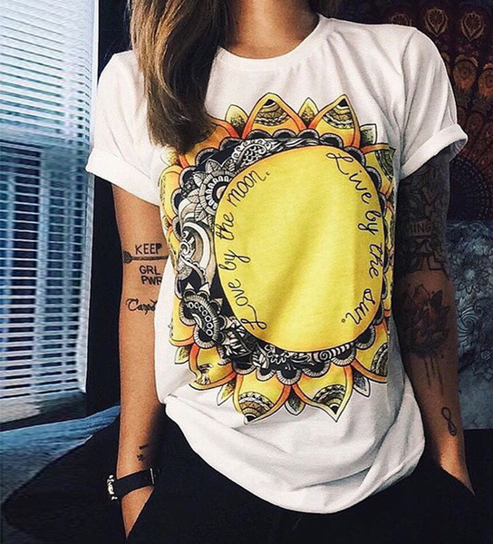 Wholesale- European T shirt Summer Women 2016 Vibe With Me Print Punk Rock Fashion Graphic Tees Women Designer Clothing