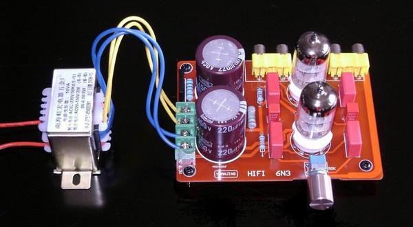 Плата предварительного усилителя Freeshipping 6N3, (с трансформатором) / Электронная плата усилителя усилителя
