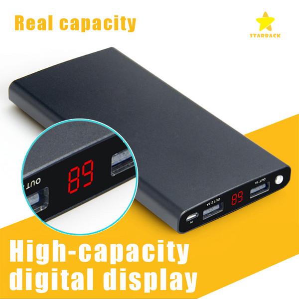 12000Mah Power Bank Caricabatterie universale ultra-sottile Porta 2USB Luce a LED per iPhone Samsung Galaxy con confezione al dettaglio