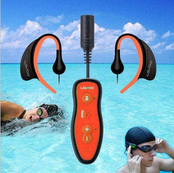 IPX8 reproductor de MP3 a prueba de agua natación mp3 playter Decodificación de audio de alto rendimiento con auricular a prueba de agua