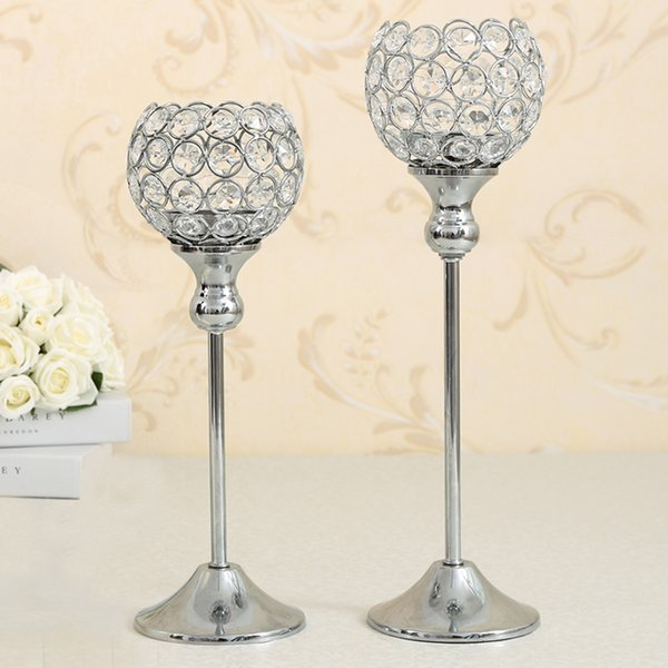 Crystal Candle Bowl Holders Wedding Party Supplies Dinning Room Table Candlesticks Centerpieces Birthday Holiday Home Decoration Gift