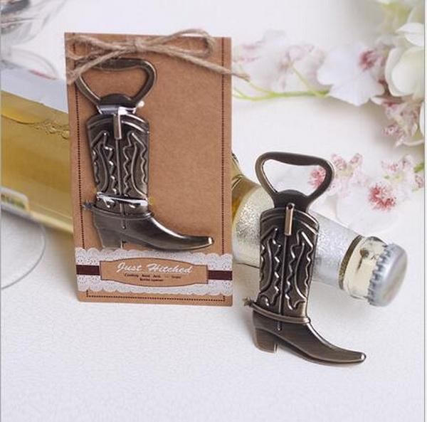 100pcs/lot Creative Cowboy boot Design Beer Bottle Opener Best Wedding Gift and Party Favors