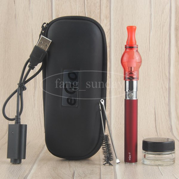 China Direct Dab Wax Dome Vape Pen Attachments eGo T Glass Globe Bulb Vaporizer Vapor Starter Kits Zipper Case E Cig