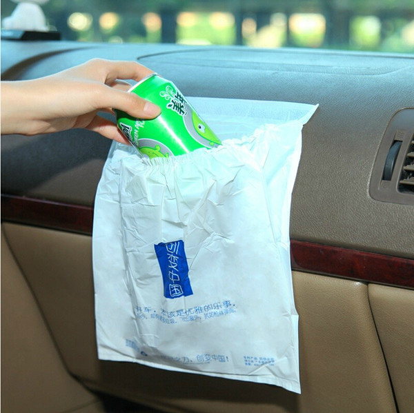 3pcs/Lot Disposable Self Adhesive Car Trash Bag Eco-friendly Portable Garbage Waste Bin for Vehicle Home Office Desktop