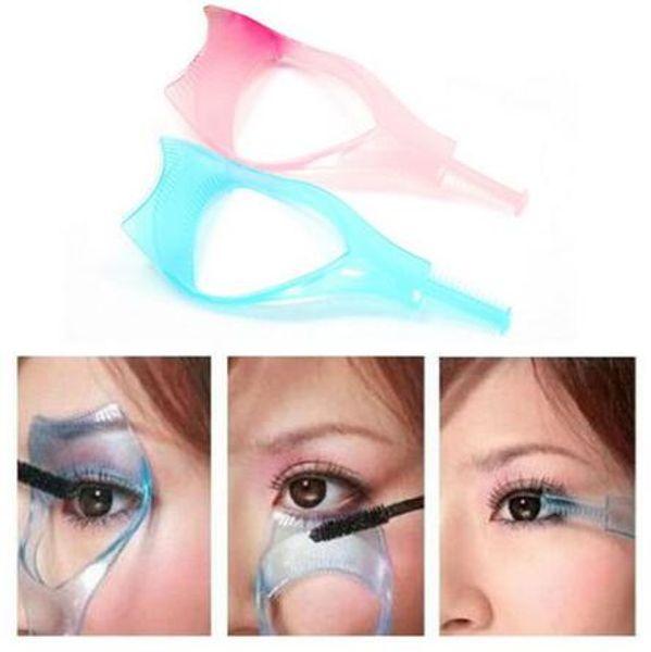 3 in 1 Make-Up Wimpernbürste Mascara Wimpernzange Schutz Applikator Kamm Guide Kosmetik Styling Tool Wimpernzange CCA6582 1000 stücke