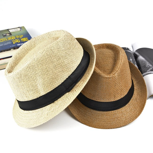 Spring and autumn and summer vacation children travel to Holland curling hat straw hat hat Jazz fun outdoor beach