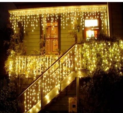 12 M LED Icicle led Işık perdesi Peri Dize Lambası kadın erkek konnektör 8 Modu denetleyici / Parti noel Düğün dekorasyon
