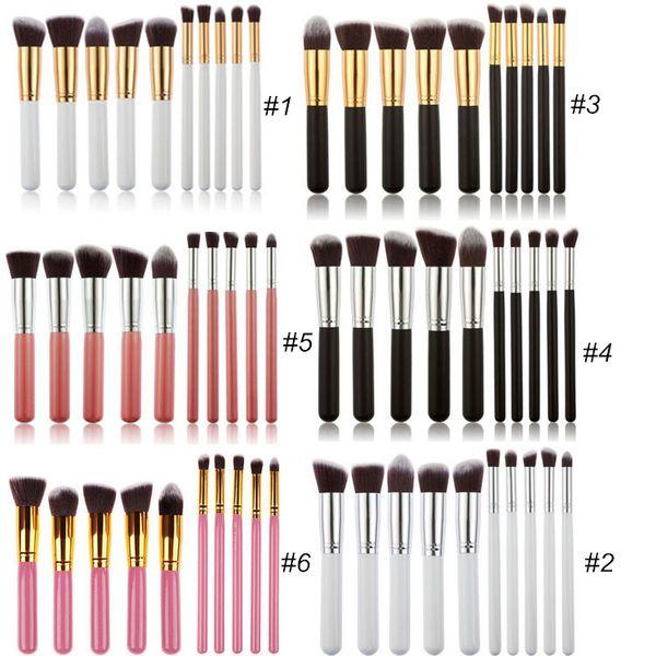 10pcs Kabuki Makeup Brushes Sets Kit Professional Best Foundation Eyeshadow Face Powder Brush Cosmetics Make Up Brushes Tools