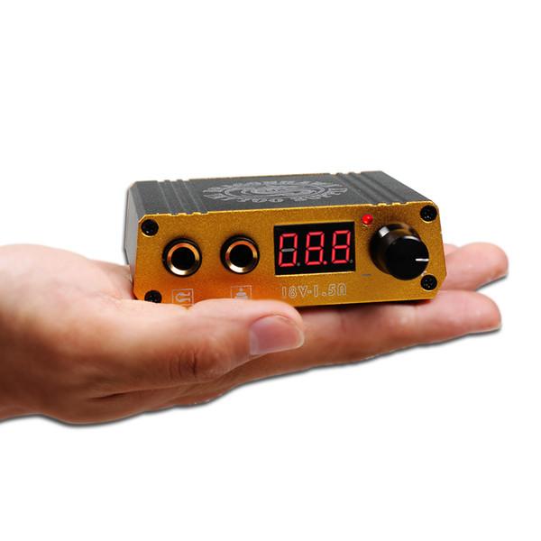 Wholesale MINI LCD digital tattoo power supply/box small size durable & convenient customize LOGO P077