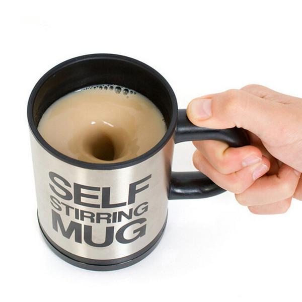 CJ021 350 ml taza de mezcla de café automático drinkware taza de té de herramienta eléctrica de cocina de acero inoxidable