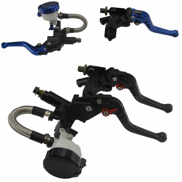 "2pcs Universal 7/8"" 22mm CNC Aluminum Motorcycle Clutch Brake Levers Master Cylinder Kit Fluid Reservoir Set Wholesale Universal"