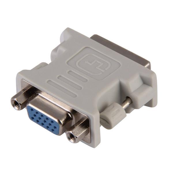 Wholesale- DVI-I Male 24+5 Pin to VGA Female Adapter Video Converter HDTV LCD Moniator Adapter DVI to VGA