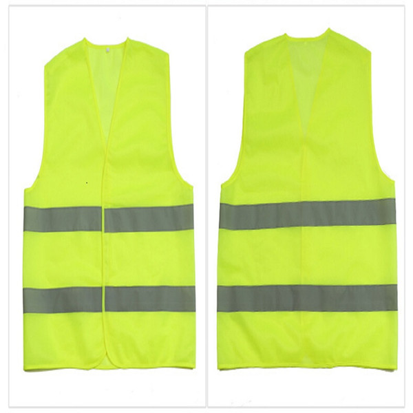 top popular High Visibility Working Safety Construction Vest Warning Reflective traffic working Vest Green Reflective Safety Clothing 2020