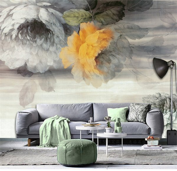 Grosshandel Europa Retro Tv Backsplash Tapete Fototapete Wand Kunst Dekor Rose Blume Tapeten Rolle Abstract Wall Paper 3d Cusotom Von Fumei168 32 17