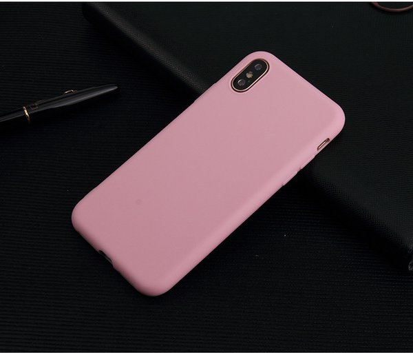 For iphone X 8 7 6 5 Ultra Thin matte TPU Soft Case Cellphone Shell protective Cover candy color free shipping new arrival