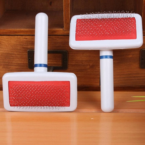 top popular Red Puppy Hair Brush Cat Dog Grooming Pet Gilling Brush Soft Slicker Comb For Dogs Quick Clean Tool Pet Cepillo Perro 77 2020