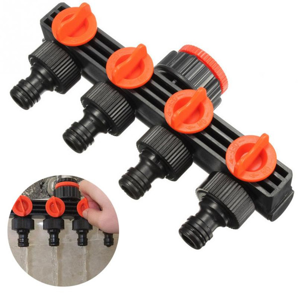 Home Garden Hose Pipe Splitter Plastic Drip Irrigation Water Connector Agricultural 4 Way Tap Connectors
