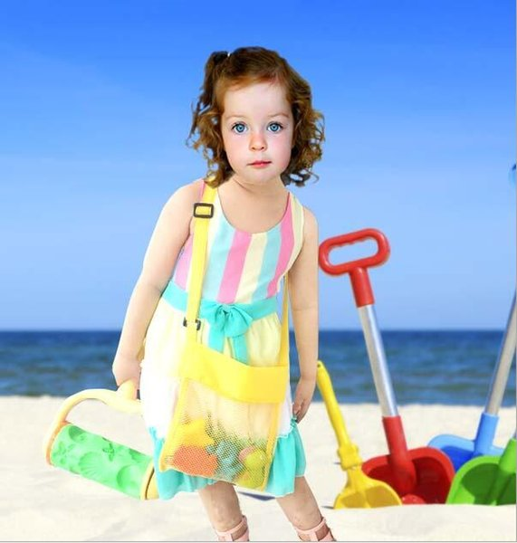 top popular Kids Toys Beach Mesh Bags Sand Water Away Tote Pouch Handbag Buggy Storage Bag Mesh Shell Beach Bags Sandpit Beach Receive Bag F216 2019
