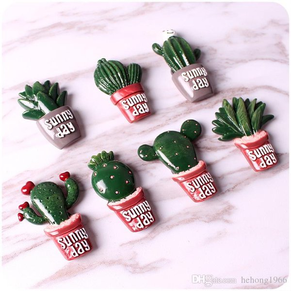 Personality Fridge Magnet Leave A Message Stick Household Kitchen Decorate Gifts Sunny Day Mini Resin Cacti Magnets 1 2qh C R