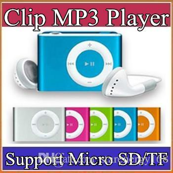 top popular Mini Clip MP3 Player - 2015 HOT! Cheap Colorful Sport mp3 Players Come with Earphone, USB Cable, Retail Box, Support Micro SD TF Card A-MP 2019