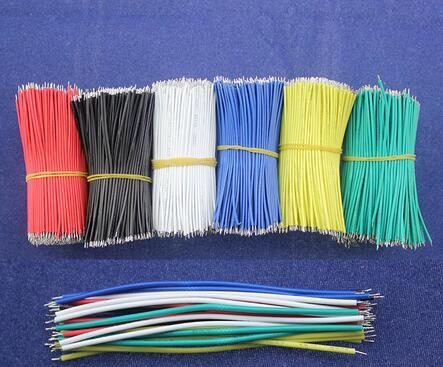top popular Free Shipping 50pcs lot pcb solder cable 26AWG Fly jumper wire cable Tin Conductor wires 2021