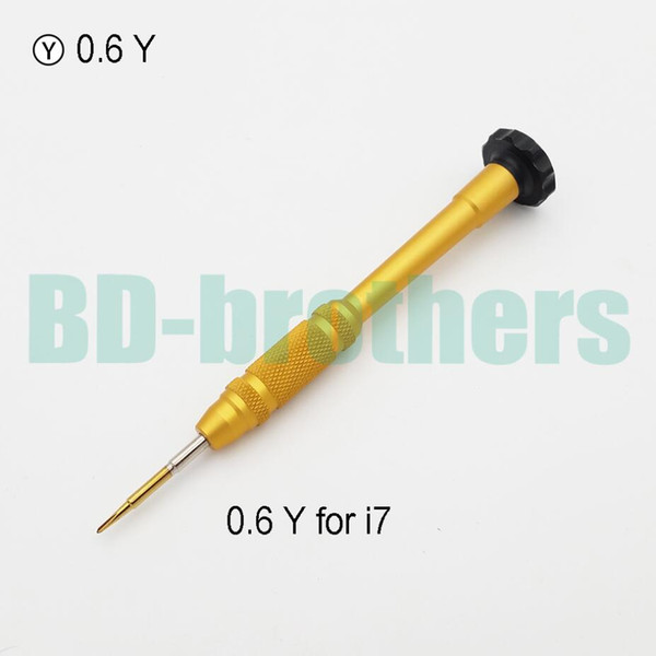 top popular High Quality New 0.6 Y Screwdriver Key S2 Steel 0.6 x 25mm Triwing 0.6Y For iPhone 7 Screw Driver Dedicated Revamp 200pcs lot 2019