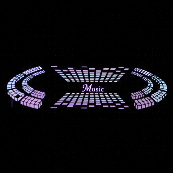 Car Sticker Music Rhythm LED Flash Light Lamp Voice-activated Equalizer Car Styling wholesale car signal lamp