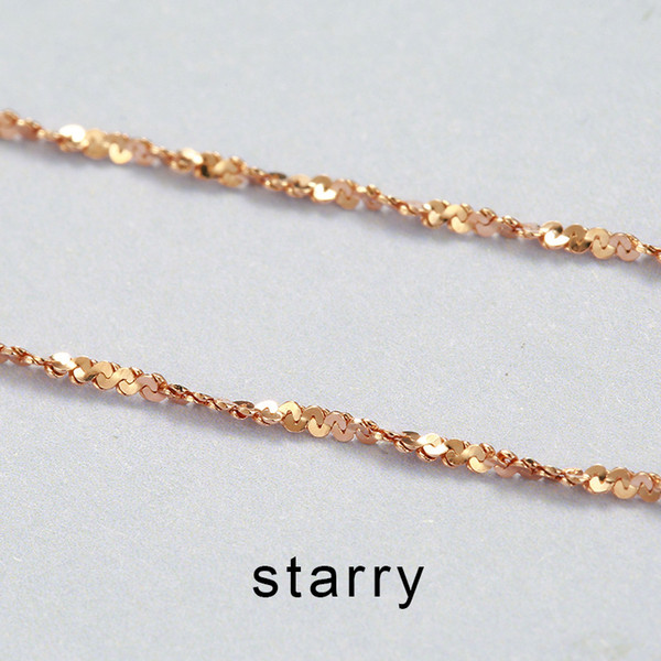 925 Sterling Silver 0.7MM Starry Chain Necklace Italian Thin Strong Lobster Claw Clasp 16' 18' chain necklace drop shipping