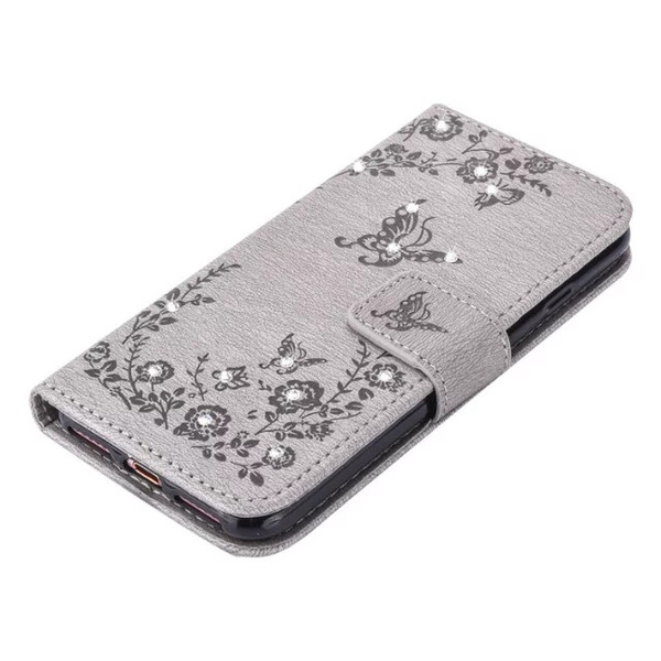 For Coque Samsung Galaxy S7 Case Leather Wallet Cell Phone Cases Iphone 7 Plus Case Flip Cover Luxury 3D Diamond Bling
