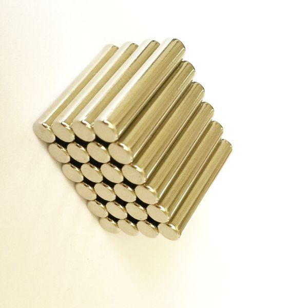 Yeni Manyetik çubuk, Toplu Silindir Mıknatıs Dia4x20mm Neodimyum Nadir Toprak Manyetik Bar Çubuklar N35 25 adet / grup