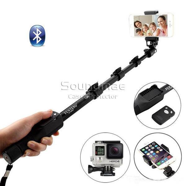 portacellulare scatto remoto Yunteng 1288 originale allungabile selfie Stick Bluetooth monopiede per iPhone IOS e Andriod con RetailPackage