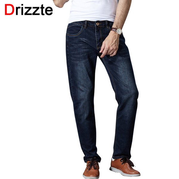 Wholesale-Drizzte Autumn High Stretch Tapered Jeans Slim Denim Jean Trousers Pants Plus Size 32 33 34 35 36 38 40 42 44 46