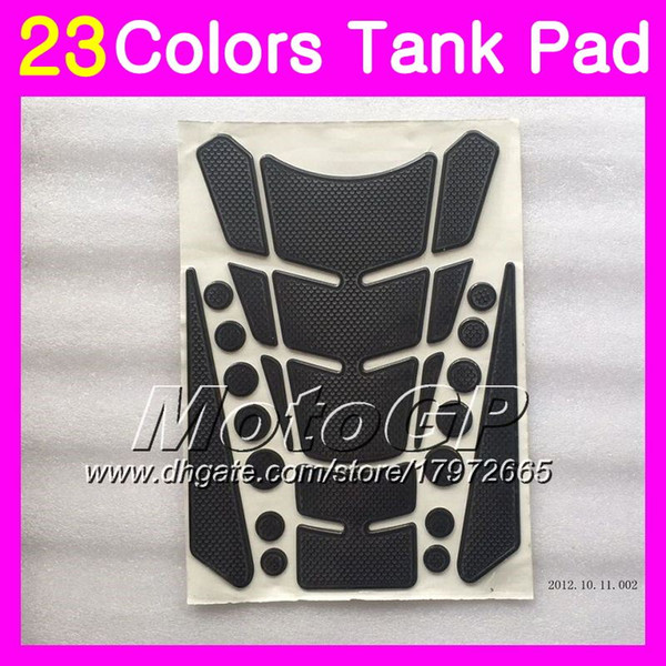 23Colors Protector de almohadilla del tanque de gas de fibra de carbono 3D para SUZUKI GSX1250C GSX1250 C GSXC1250 11 12 13 2011 2012 2013 GSXC 1250 3D Etiqueta engomada de la tapa del tanque