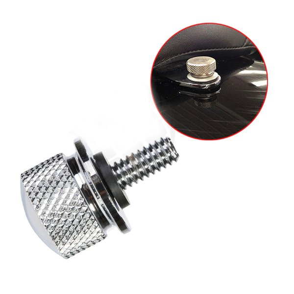 top popular Black and Chrome Seat Bolt Polished Stainless Steel fits for Harley New 2021