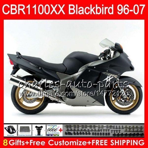 Body For HONDA Blackbird Matte black CBR1100 XX CBR1100XX 02 03 04 05 06 07 81NO47 CBR 1100 XX 1100XX 2002 2003 2004 2005 2006 2007 Fairing