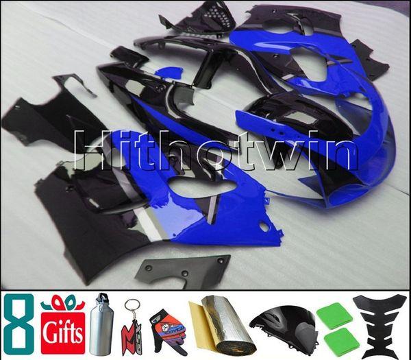Capuz de motocicleta preto azul escuro para Suzuki GSX-R600750 1996-2000 96 00 GSXR750 1996 1997 1998 1999 2000 Carenagem de plástico ABS