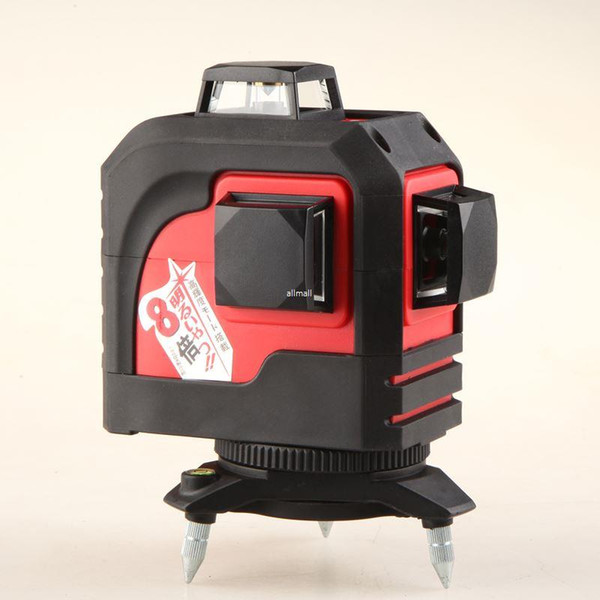 Freeshipping Professional 12Lines 3D Laser Level Self-Leveling 360 Horizontal And Vertical Cross Super Powerful Red Laser Beam Line