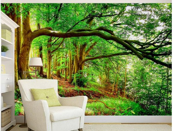 Terrific Beautiful Forest Tree Evergreen Tree Mural 3D Wallpaper 3D Wall Papers For Tv Backdrop Colorful Wallpaper Colour Wallpapers From Catherine198809100 Inzonedesignstudio Interior Chair Design Inzonedesignstudiocom
