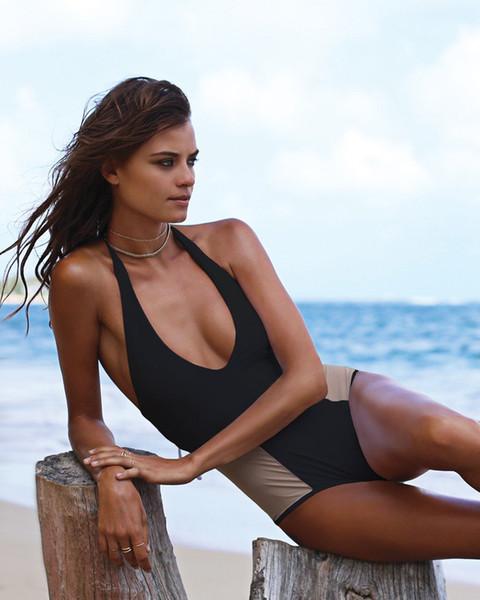 Summer styles Women push up One Pieces Swimsuit Halter Bathing suit jumpsuit Bikinis Swimwear Transparent Net Gauze