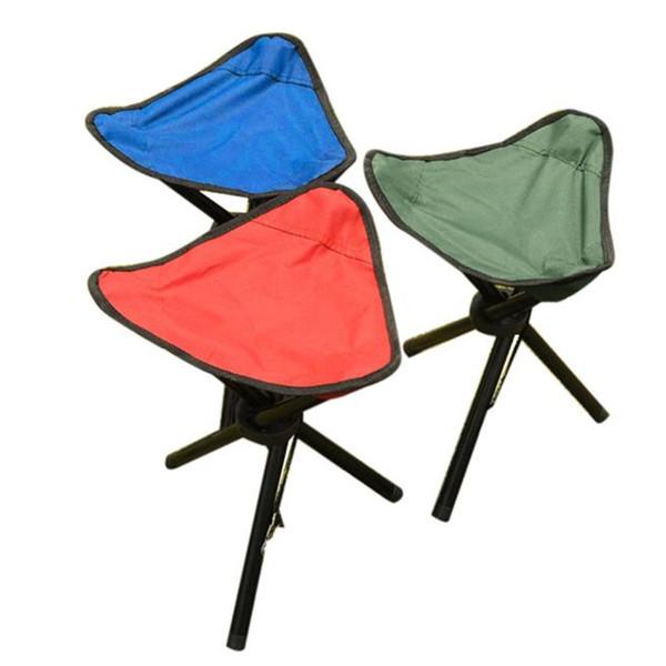 Großhandels-Camping Klappstuhl Tragbare 3 Beine Stuhl Stativ Sitz Oxford Tuch Garten Picknick im Freien Strand BBQ Angeln Zubehör