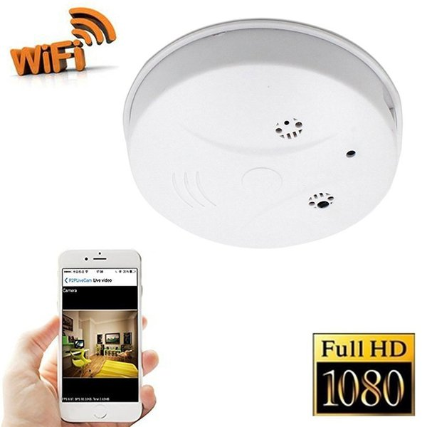 2019 Free DHL WiFi Ip Camera Smoke Detector Cam HD 1080P Motion Detection  For Home Security & Surveillance Free Apps For IOS Android PC From
