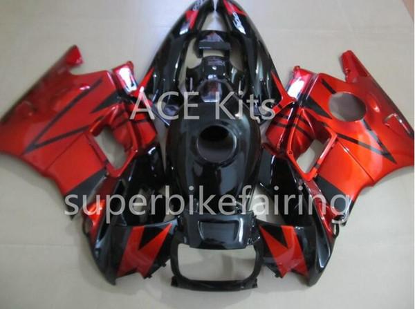 3 regalos gratis para Honda CBR600F2 91 92 93 94 CBR 600F2 CBR600 1991 1992 1993 1994 ABS Motocicleta carenado Negro Rojo AA7