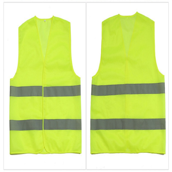 best selling High Visibility Working Safety Construction Vest Warning Reflective traffic working Vest Green Reflective Safety Clothing LJJC1792 50pcs