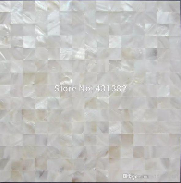 Grosshandel Hyrx Shell Mosaik Naturliche Weisse Farbe Perlmutt Fliesen Flache Oberflache Kuche Backsplash Fliesen Badezimmer Wand Bodenfliesen Von