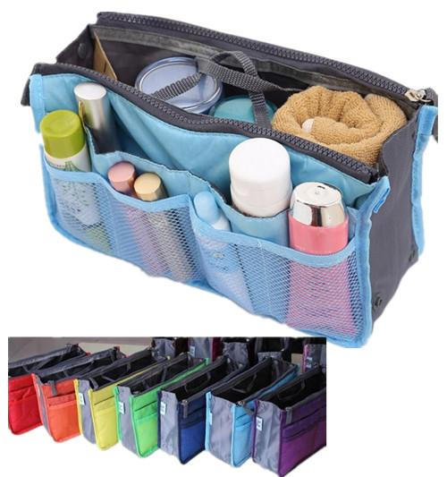 0ba351ff711e 2019 Multi Function Handbag Purse Organizer Insert Phone Cosmetic Slim Bag  In Bag Storage Case Liner Pouch Medium Size With Handles Many Pockets From  ...