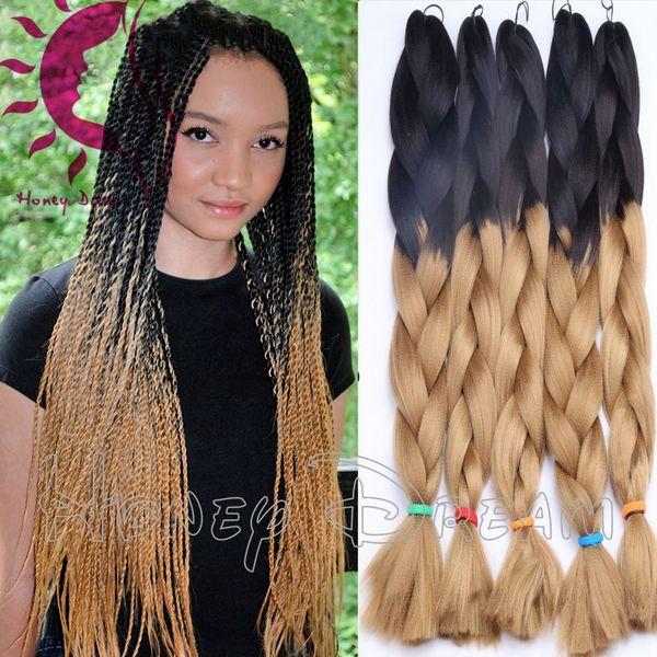 2018 Light Blue Kanekalon Braiding Hair Ombre Kanekalon Jumbo