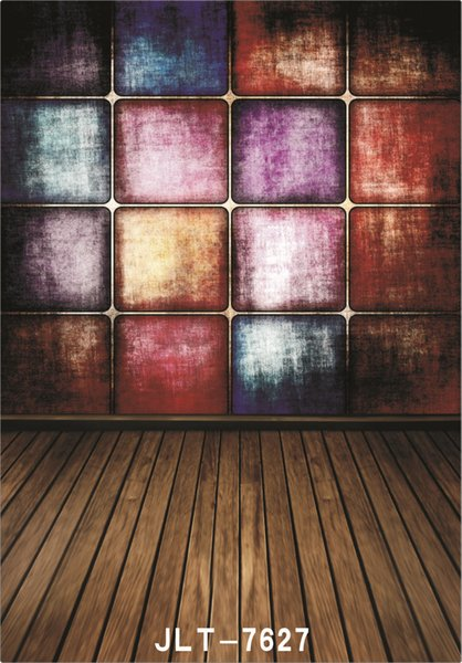 colored wall wooden floor 5X7ft camera fotografica vinyl cloth photography backgrounds wedding children baby backdrop for photo studio