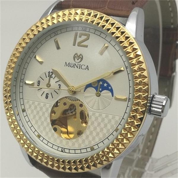 IPG Leather Belt Watch Automatic Mechanical Men Luxury Selling Watch Guangzhou Fashion Brand Copy Sports Watch