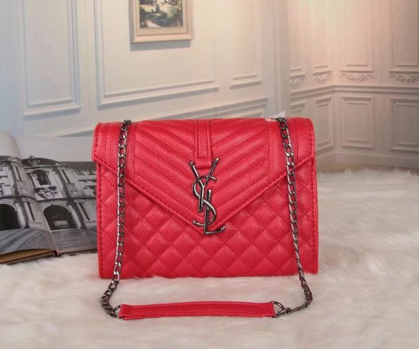 Classic y-0 Leather black gold silver chain Free shipping hot sell Wholesale retail 2016 new bags handbags shoulder bags tote bags messenger